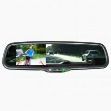 Штатное зеркало с монитором Prime-X 043/102 (с креплением)