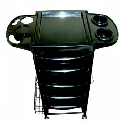 Парикмахерская тележка Uva 3015 черная, код: 500