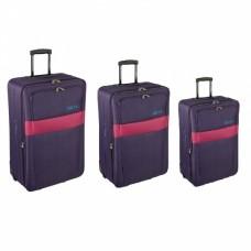 Комплект чемоданов Skyflite Domino Purple (S/M/L) 3шт