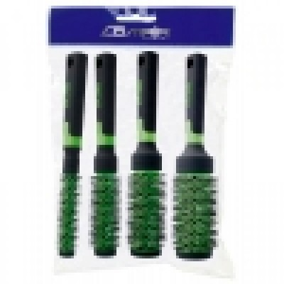 Набор из 4 брашингов для сушки феном «Ceramic Green», код: 170