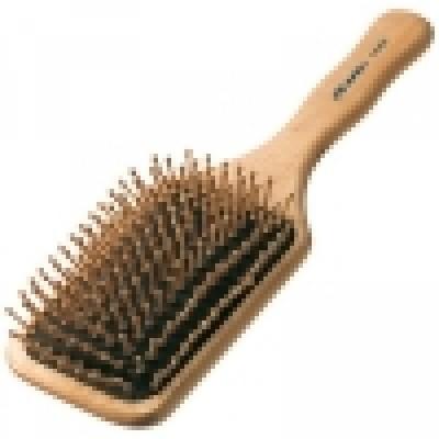 Щётка «Natural Wooden Brush» с деревянной щетиной 9-рядная, код: 261