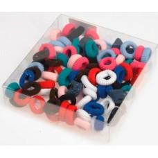 Резинки для волос Sibel 9360437 маленькие цветные 100 шт