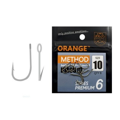 Гачки ORANGE method Premium Series 6, колір teflon, # 8, в уп. 8шт., код: 7591