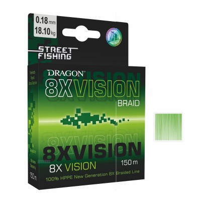 Шнур Dragon Street Fishing 8X Vision 150м. 0,08мм., код: 7495
