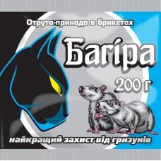 Яд-приманка Багира в брикетах 200 гр