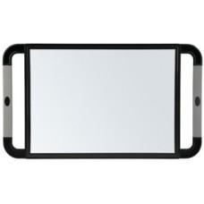 Зеркало косметическое с ручками Sibel 0130991-02 (black 23x40 см.)